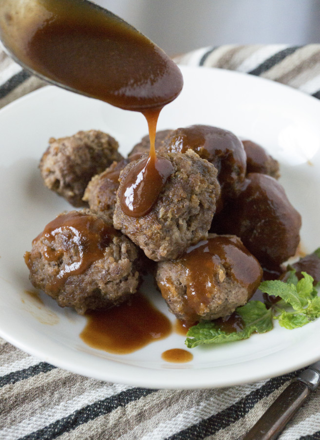 Juicy, tender meatballs and extremely easy to make.And the sauce is bursting with flavor