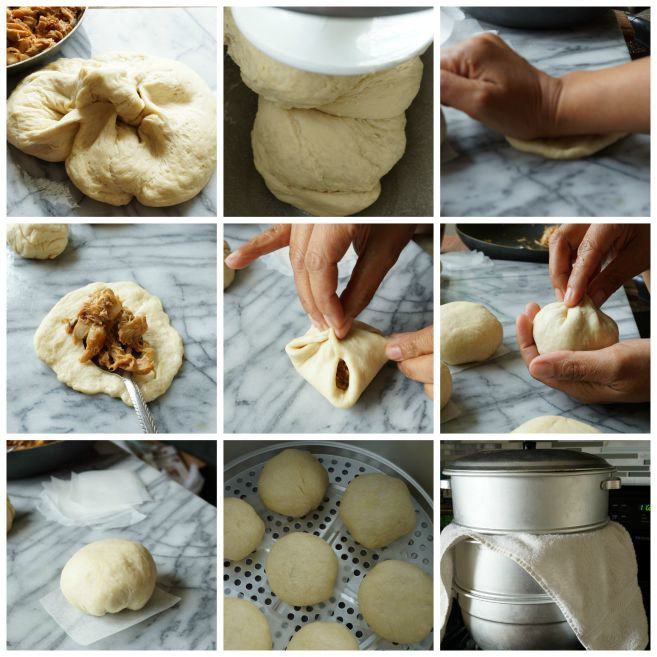 STEP BY STEP PHOTO ON HOW TO SEAL SIOPAO
