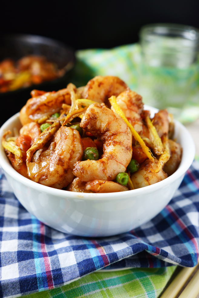 This Shrimp and Crispy Ginger is a crowd favorite. Too easy to make in such a tasty meal – Shrimp and Ginger together in one meal. Two of my favorites blended together, I cannot ask for more. This Shrimp and Crispy Ginger is a must in your recipe file because this right here is phenomenal and it only take 20-30 minutes to make and this is a meal that wows even my 11 year old loved it.
